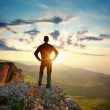 Man on top of mountain — Stock Photo #44054193