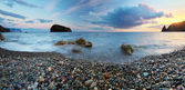 Beautiful seascape panorama — Stock fotografie