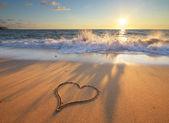 Heart on beach — Stock Photo