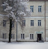 Slushko Palace in winter — Stock Photo