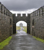 Downhill Demesne and Mussenden temple — Stock Photo