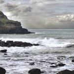 Burza na wybrzeżu północnym Atlantyku — Zdjęcie stockowe