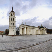 Cathedral church and bell tower — Stock Photo