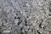 Frozen river with ice — Stock Photo