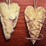 Couple vintage heart — Stock Photo