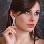 Portrait attractive brunette — Stock Photo