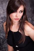 Portrait beautiful brunette — Stock Photo