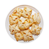 Delicious crunchy sweet puffs — Stock Photo