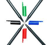 Colored pens — ストック写真