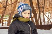Little boy  in winter — Stock Photo