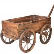 Vintage wooden cart isolated on white — Stock Photo #15452065