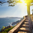 View of beach Costa Brava Catalonia Spain — Stock Photo