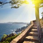 View of beach Costa Brava Catalonia Spain — Stock Photo