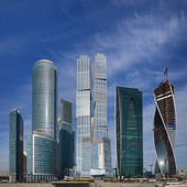 View on new Moscow City buildings — Stock Photo