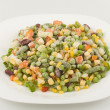 Mixture of fresh-frozen vegetables — 图库照片
