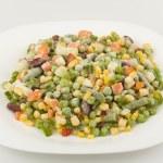 Mixture of fresh-frozen vegetables — Stock Photo