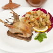 Stock Photo: Whole roasted quail
