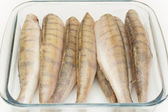 Walleye fish raw peeled headless — Stock Photo