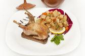 Whole roasted quail — Stock Photo