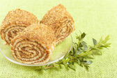 Pastry roll filled — Stock Photo