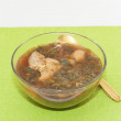 Green borsch with chicken — Stock Photo