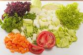 みじん切りの野菜スープ — ストック写真