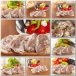 Collage of lamb meat foods — Stock Photo