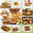 Collage of different poultry foods — Stock Photo
