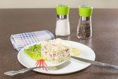 Salad with crabmeat — Foto de Stock