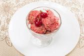 Cherry sorbet — Stock Photo