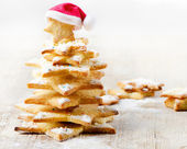 Decorated cookies - Christmas tree — Stock Photo