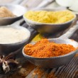 Assortment of powder spices — Lizenzfreies Foto