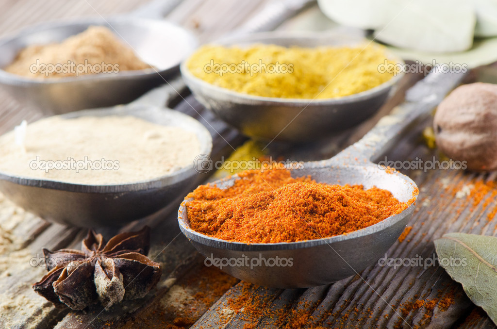 Assortment of powder spices   Stock Photo #13936675