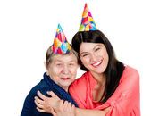 Happy grandmother and granddaughter — Stock Photo