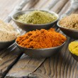 Assortment of powder spices — Stock Photo #14752847