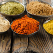 Assortment of powder spices — Stock Photo