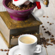 Christmas coffee grinder — Stock Photo