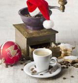 Vánoční káva mlýnek — Stock fotografie