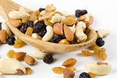 Dried fruits and nuts — 图库照片