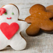 Homemade gingerbread man - Stock Photo