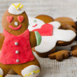 Homemade gingerbread man — Foto Stock