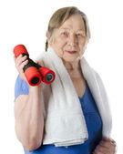 Active senior woman — Stock Photo
