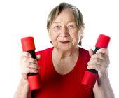 Portrait of active senior woman — Stock Photo