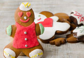 Homemade gingerbread man — Stock Photo