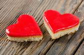 Dva valentine koláče — Stock fotografie