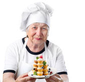 Senior woman cook — Stock Photo