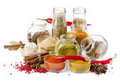Bottles of colorful spices — Stock Photo