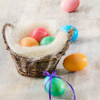 Royalty-Free Stock Photo: Easter eggs in the basket