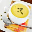 Creamy pumpkin soup — Stock Photo #22037999