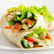 Tortilla chicken wraps — Stock Photo #22901162